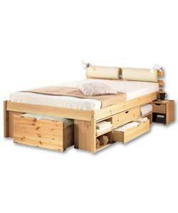 Ultimate Storage Double Bed Lights Cushion Top Mattress  sc 1 st  Listitdallas & Ultimate Storage Double Bed - Listitdallas