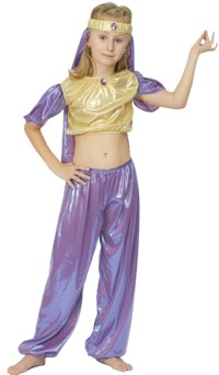 You can be the Arabian Princess Jasmine in the pantomime, Aladdin.  Good for belly dancing and make