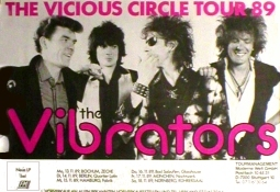 VIBRATORS Vicious Circle Tour 1989 Music Poster 84x59cm