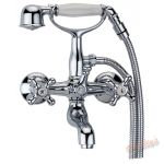 This bath shower mixer comes highly polished and i