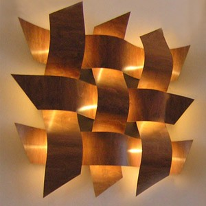 Large Feature Wall Lights : Weave Wall Lights (Large Steel) - review, compare prices, buy online