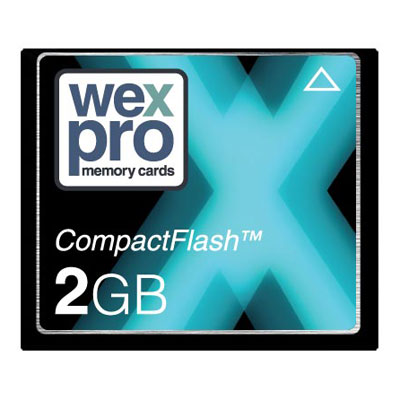 The WexPro 2GB 55x speed CompactFlash card is the perfect memory card for your digital compact camer - CLICK FOR MORE INFORMATION