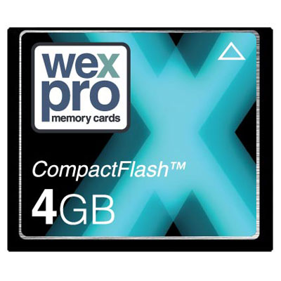 The WexPro 4GB 55x speed CompactFlash card is the perfect memory card for your digital compact camer - CLICK FOR MORE INFORMATION