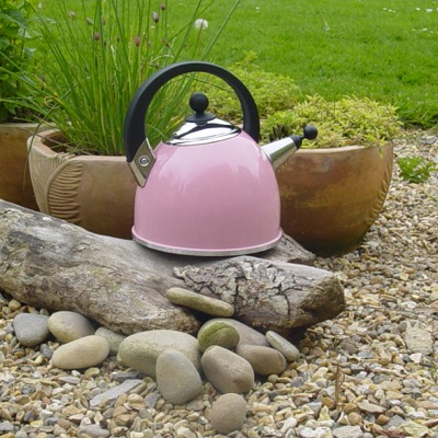 Stylish Whistling Kettle - Baby Pink  This 4 pint / 2.27 Litres (3 pint / 1.7 ltr usable) kettle,
