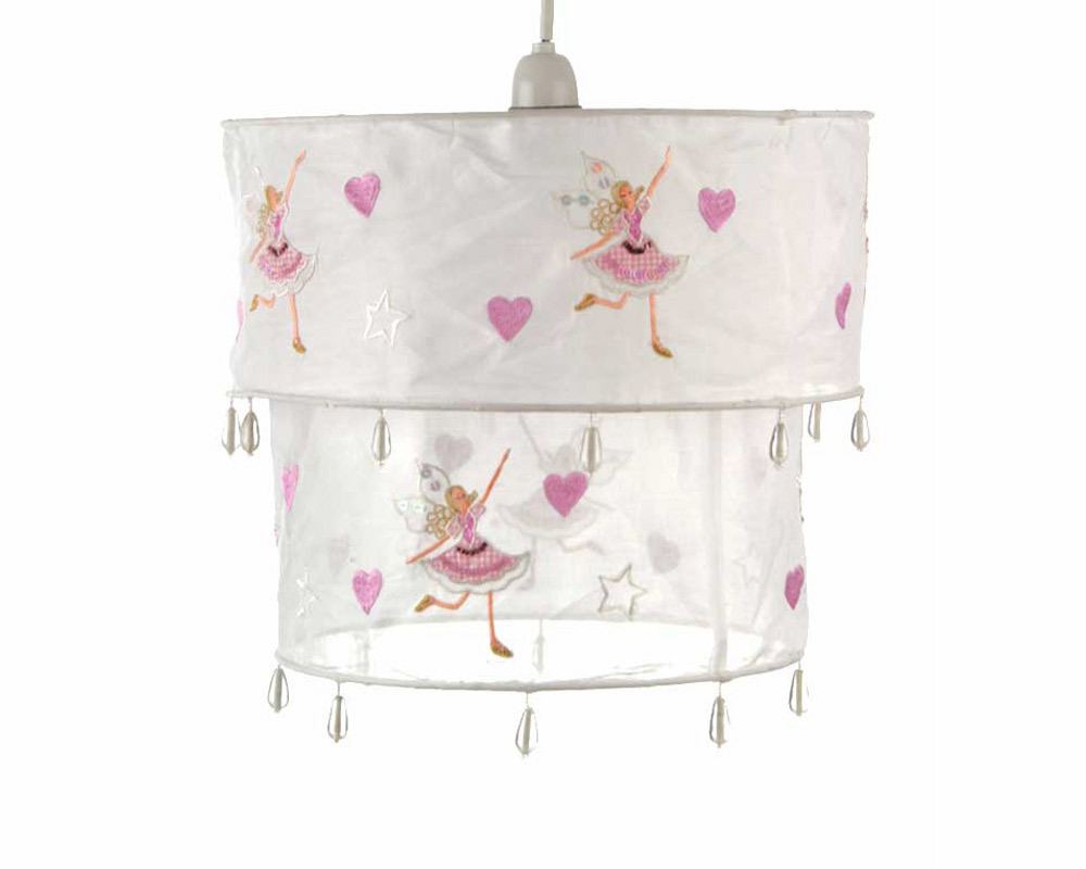 This pretty, beaded voile lampshade will add a dash of fairy magic to a little girl - CLICK FOR MORE INFORMATION