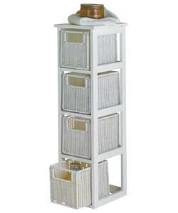 Http Www Comparestoreprices Co Uk Bathroom Furniture Unbranded White Rattan Effect 4 Drawer Storage Unit Asp