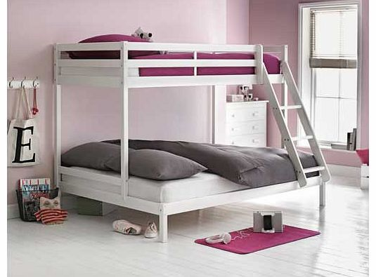 White Double Bunk Bed 535 x 395