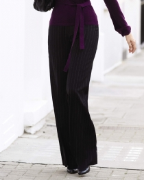 Wide Leg Pinstripe Trouser product image
