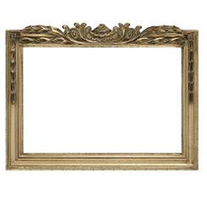 3.25�  (83mm) wide  silver carved mirror 16� x 20� or 41cm x 51cm aperture with backing and hooks