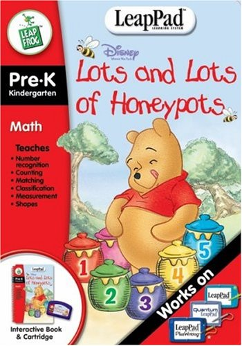 Winnie the Pooh - Lots & Lots of Honey Pots - LeapPad Interactive Book- LeapFrog product image