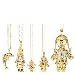 womens 9ct rag doll pendant gold jewellery review
