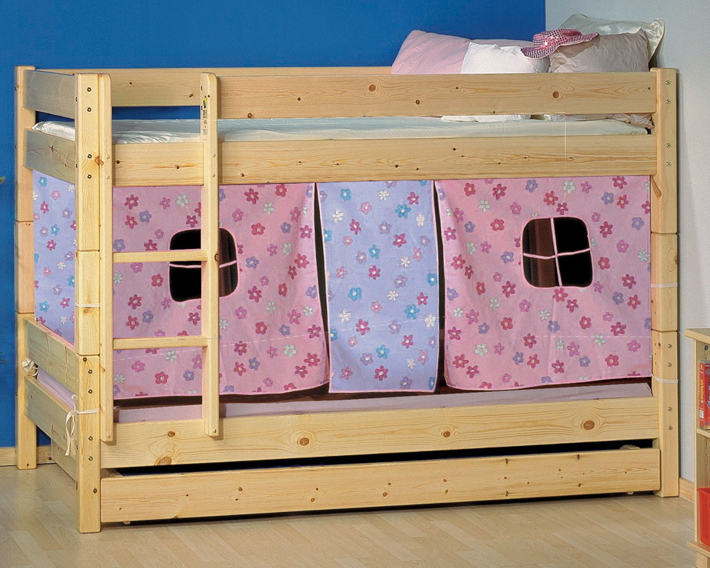 Wooden Bunk Beds.