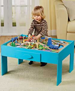 Wooden Train Set With Table And Draws Review Compare