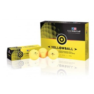 US Kids Yellow Golf Balls (12 Balls)