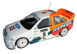 1:18 Scale Ford Escort Repsol RAC Netwrok Rally 1997