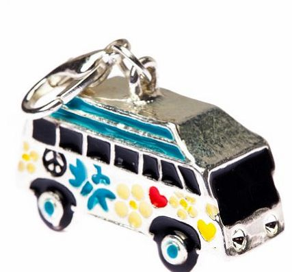 Silver Hippy Bus Shaped Fashion Charm Pendant for Bracelets Necklaces by VAGA®