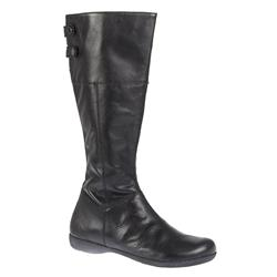 Female Twiggy Leather Upper Leather/Textile Lining Fashion Boots in Black