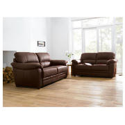 Valencia leather sofa large, chocolate product image