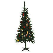Value package, tree, lights and decorations, red