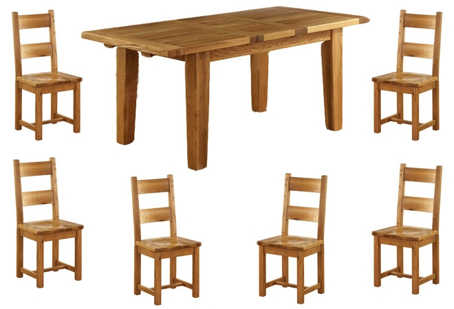 Vancouver Oak Extension Dining Table - product image