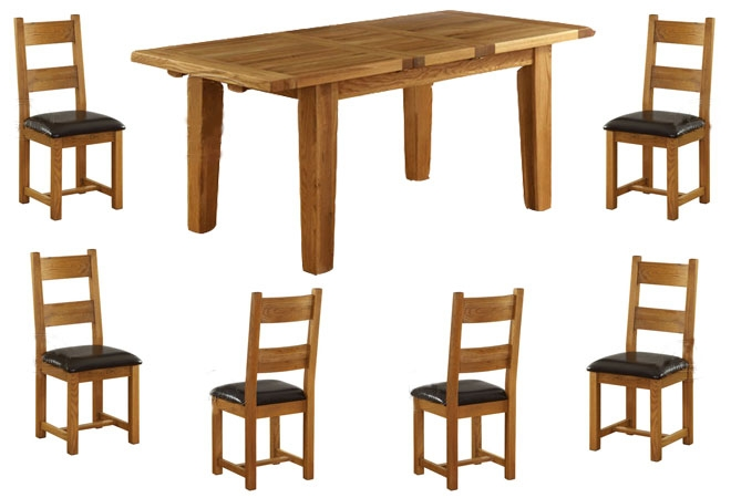 vancouver Oak Extension Dining Table 140-180cm product image