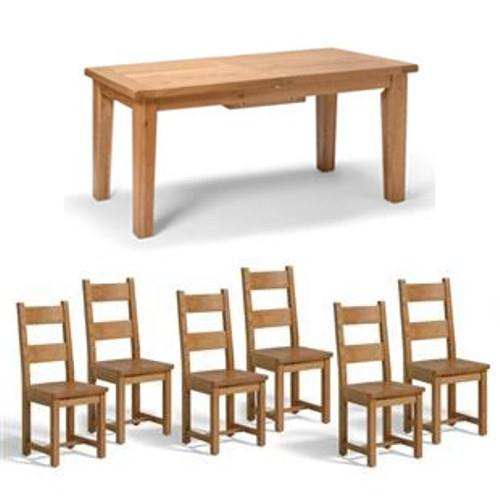 Compare Prices of Dining Room Sets read Dining Room Set  : vancouver oak large dining set with 6 wooden from www.comparestoreprices.co.uk size 500 x 500 jpeg 23kB