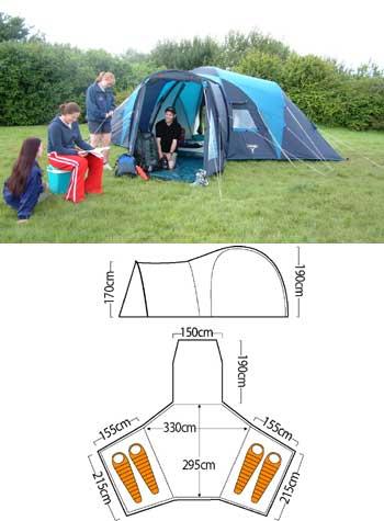 Vango Diablo 400 Tent Camping Equipment Review Compare