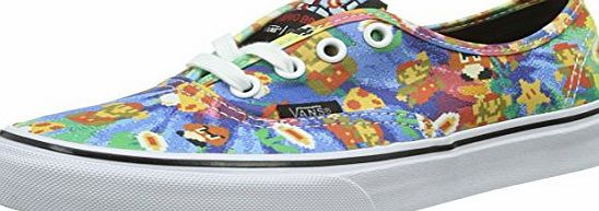 Vans Authentic, Unisex Adults Low-Top Trainers, Multicolor ((Nintendo) Super Mario Bros/tie-dye), 7 UK