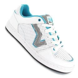 Ladies Addie Skate Shoes - White/Blue