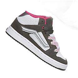Ladies Kaylyn Mid Skate Shoes-Grey/White/Pink