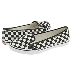Ladies KVD Shoes - True White/Black Checker