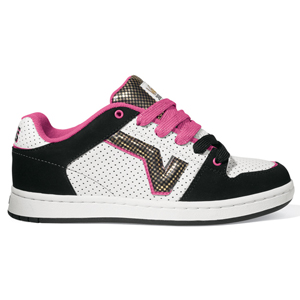 Ladies Vans Addie Shoe. Black White Pink