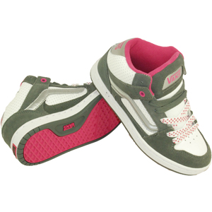 Ladies Vans Kaylyn Mid. Grey White Pink