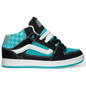 Ladies Vans Kaylyn Mid Shoe. Black Blue