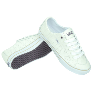 Ladies Vans Tory Leather Shoe. White
