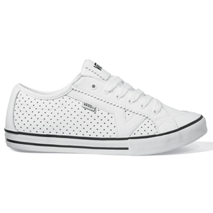 Ladies Vans Tory Shoe. Perfed Leather White