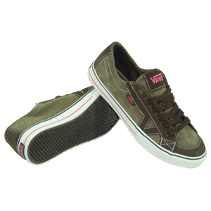 Ladies Vans Tory Suede Shoe. Brown Turtledove