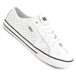 Ladies Tory Skate Shoes -(Perf Leather) White