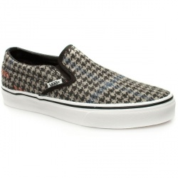 Male Classic Slip-On Fabric Upper Pumps in Black and Grey