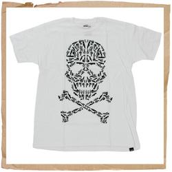 White Adio Shoes Skull