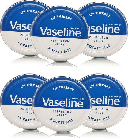 Vaseline, 2102[^]0073352 Lip Therapy Original - 6 Pack