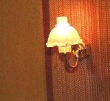 beautiful wall lamp for dolls houses one armed lamp shade 1:12