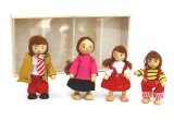 Doll family FREDA dolls from wood 4 pieces