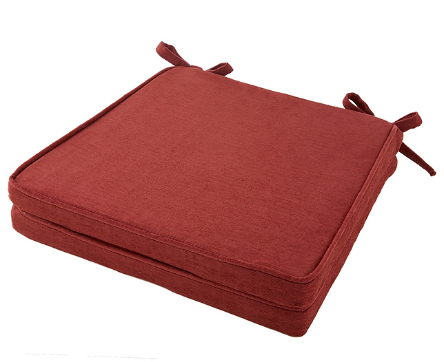venice Squared Seat Pad (Pair) Burgundy - review, compare prices, buy online
