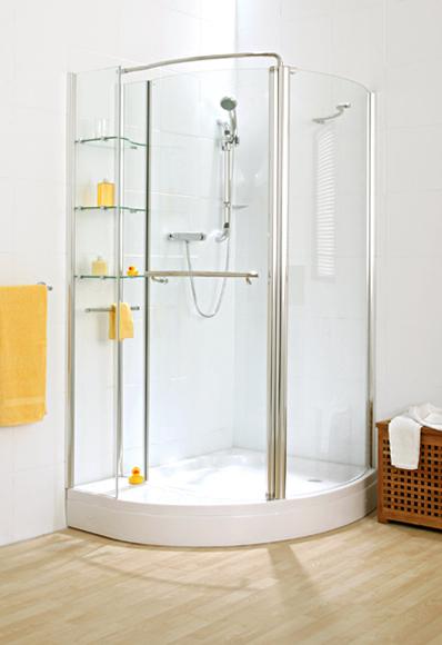 Shower Enclosures Verona Corner Storage Shower With Shelving Unit