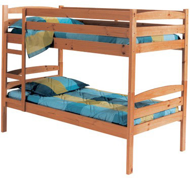 Verona Designs Shelly Wooden 3ft Pine Bunk Bed product image