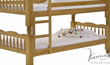 Verona Designs Trieste Antique Pine 3ft Bunk Bed product image