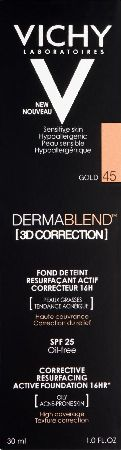 Vichy, 2102[^]0107103 Dermablend 3D Correction Gold 30ml