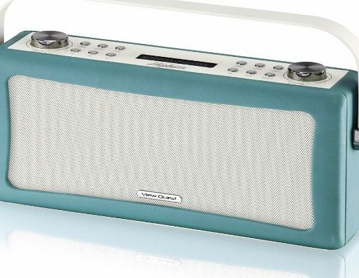 View Quest Hepburn Bluetooth Audio System with DAB  Radio - Teal