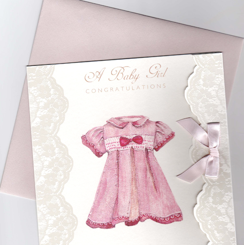 Baby Girl Congratulations Card